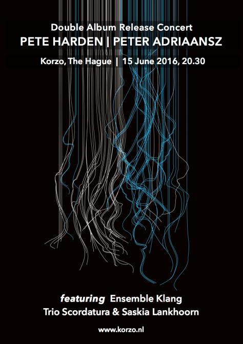 Adriaansz Harden Album Launch Flyer front
